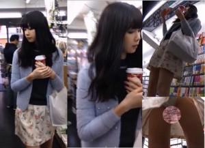 【ネコ目なモデル系お姉さん】本屋で見かけたお姉さん。スタイル良すぎて店内中付け回し盗撮。