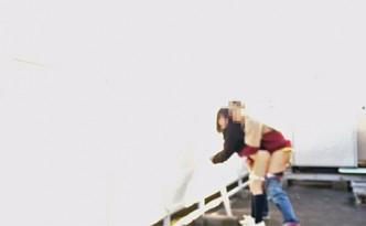 元カノ・零明/ 学校屋上で露出フェラ立ちバック
