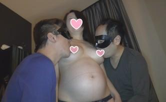 顔出し 妊婦で臨月、42歳の奥様と、3Pして、中出ししちゃいました