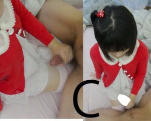 【顔出】○Cの娘 童顔 乳首を甘噛みされながら手コキ「ちんちんシゴくのなんかたのしい」