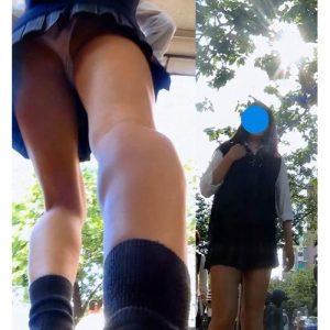 〚超高画質〛街行く制服JKちゃんたちのムチムチ太もも&オパンツを隠し撮り!〚お宝〛